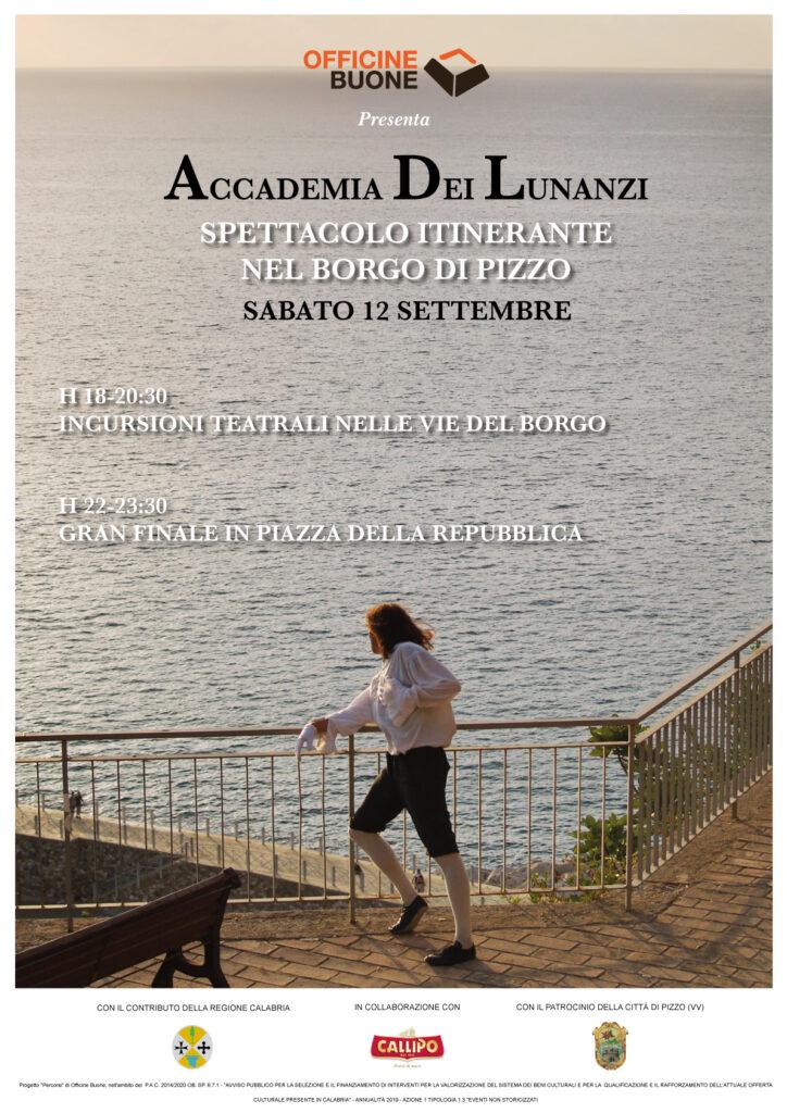 """Pizzo, arriva il campus teatrale """"Percorsi – L'Accademia dei Lunanzi"""""""